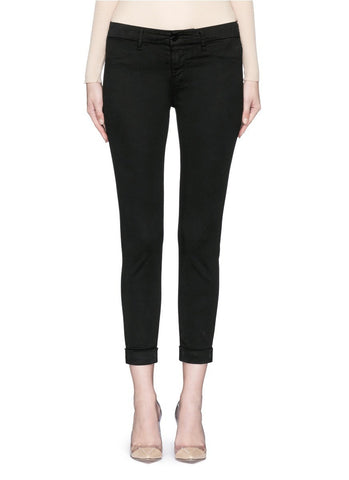'Anja' luxe sateen cropped pants