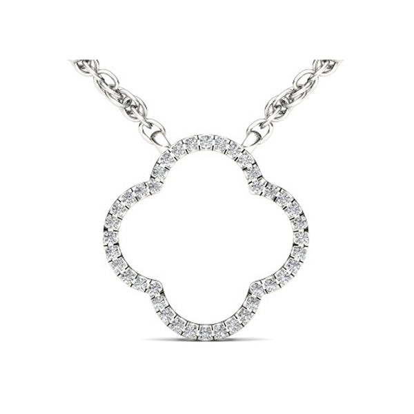 """1/10ct TDW Diamond Fashion Necklace in 10K""-26600 - SprintShopping"