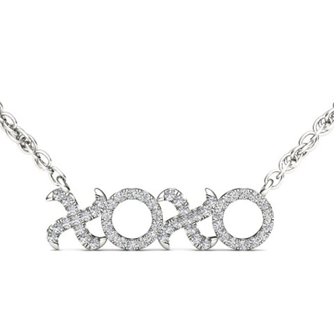 """1/6ct TDW Diamond Fashion XO Necklace in 10K"" - SprintShopping"