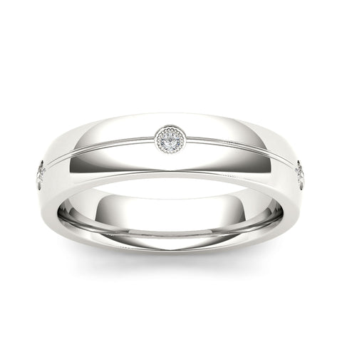 """1/7ct TDW Diamond Men's Wedding Band In 14K"" - SprintShopping"