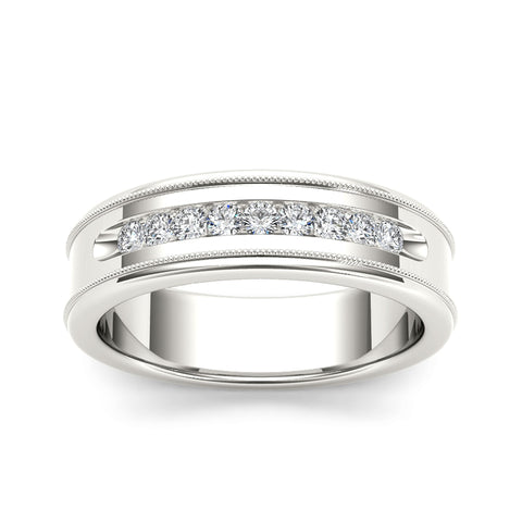 """1/3ct TDW Diamond Men's Wedding Band In 14K"" - SprintShopping"