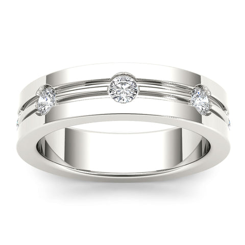 """1/2ct TDW Diamond Men's Wedding Band In 14K"" - SprintShopping"
