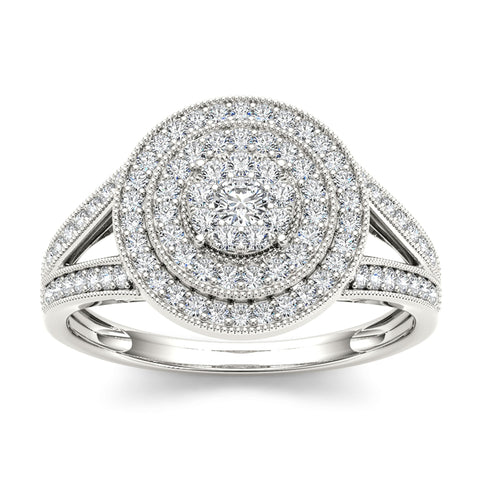 """1/2ct TDW Diamond Fashion Ring In 10K""-26591 - SprintShopping"