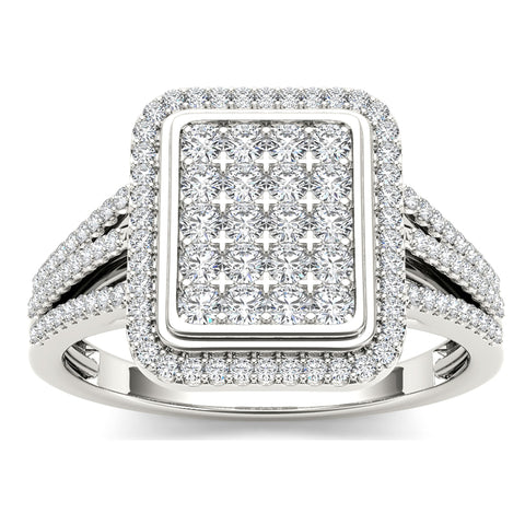 """1/2ct TDW Diamond Fashion Ring In 10K""-26590 - SprintShopping"