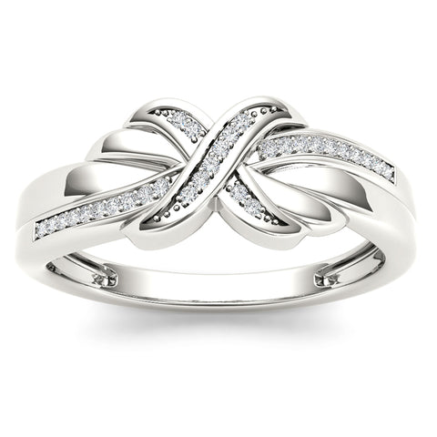 """1/7ct TDW Diamond Fashion Ring in 10K"" - SprintShopping"