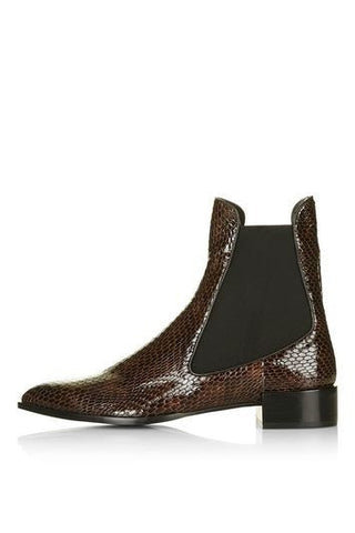 *BELVOIR Textured Chelsea Boots By Unique - Multi