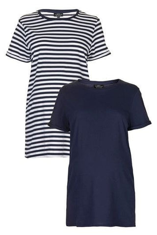 *MATERNITY Multipack Boyfriend Tee - Navy Blue