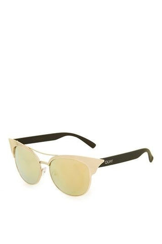 *Zig Sunglasses by Quay Australia - Gold