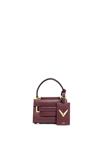 'My Rockstud' mini top handle leather bag-9651