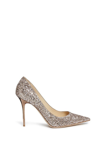 'Abel' coarse glitter pumps-19337