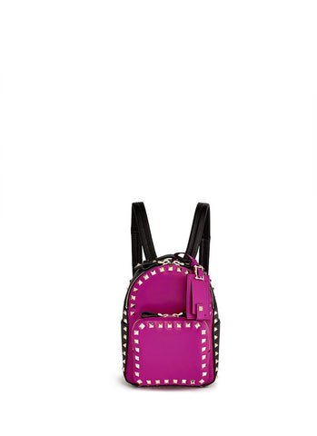'Rockstud' mini colourblock leather backpack