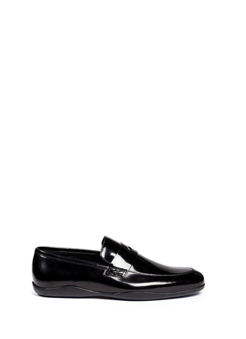 'Downing' patent leather penny loafers-19452