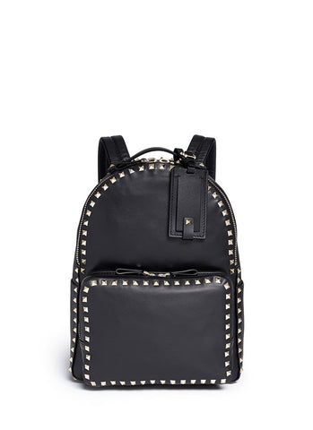 'Rockstud' leather backpack-9296