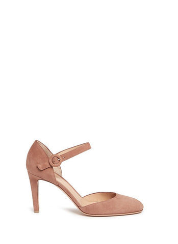 'Campral' chamois suede Mary Jane d'Orsay pumps