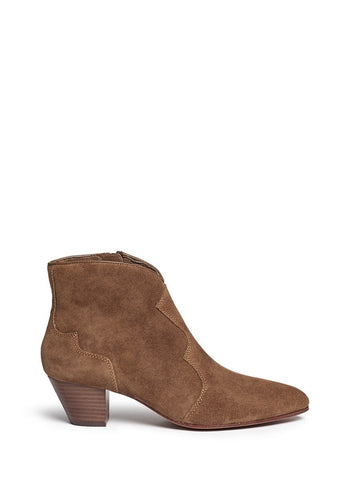 'Hurrican' suede cowboy ankle boots-18454
