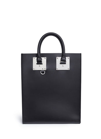 'Albion' rectangle leather box tote