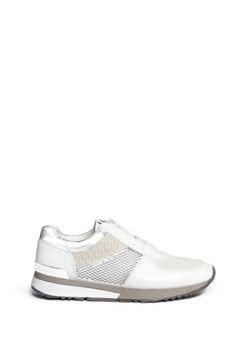 'Allie' colourblock patchwork leather sneakers-19707