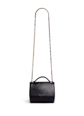 'Pandora Box' saffiano patent leather bag-9496