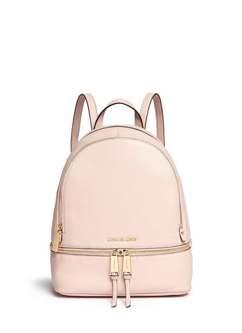 'Rhea' small 18k gold-plated metal leather backpack