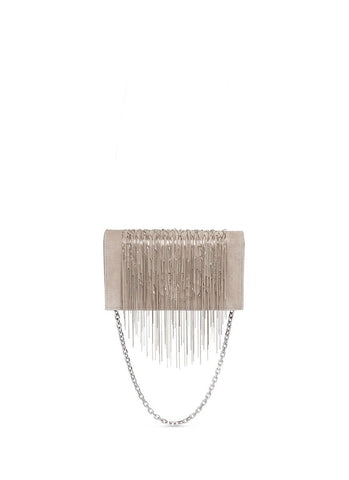 'Angel Hair' fringe suede chain clutch-9691