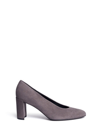 'Choke Up' block heel suede pumps