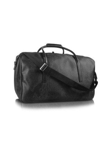 1a Prima Classe - Geo Black Double Compartment Zip Travel Bag