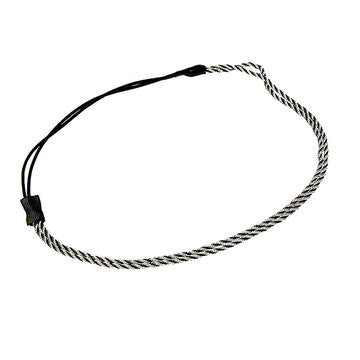 Chained Headband in Silver with Elastic Band