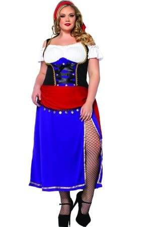 2PC.Traveling Gypsy Costume