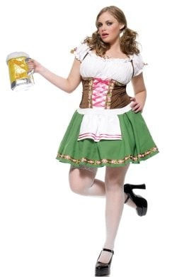 2PC GRETCHEN BEER GIRL SEXY HALLOWEEN PLUS SIZE COSTUME