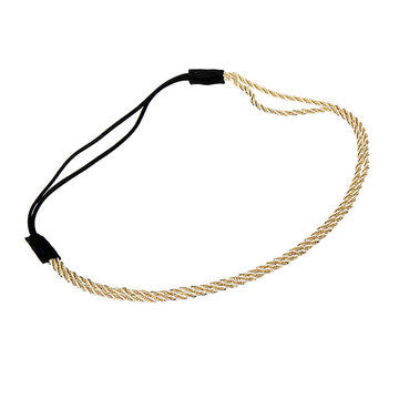Chained Headband in Gold with Elastic Band