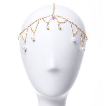Artificial Pearl Hair Crown