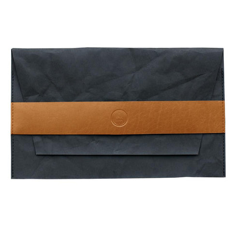 3 Wind Knots - Paper Look Clutch with Leather Details - 19045