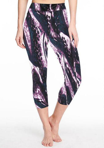 Animal Print Active Capri