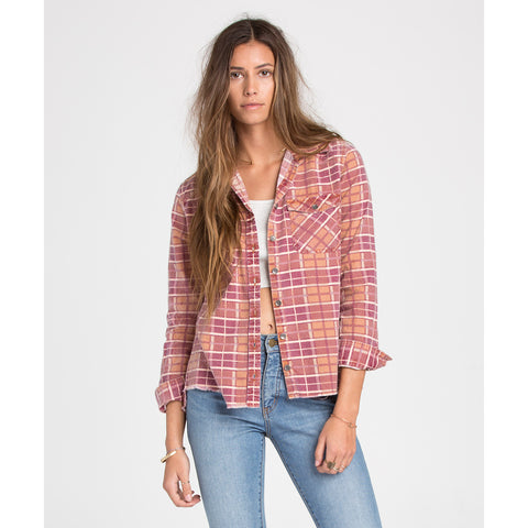 Billabong Waiting For Dawn Flannel Womens_1777