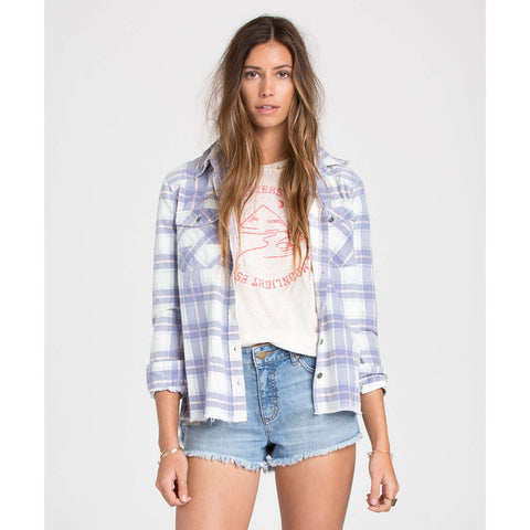 Billabong Waiting For Dawn Flannel Womens White_1784