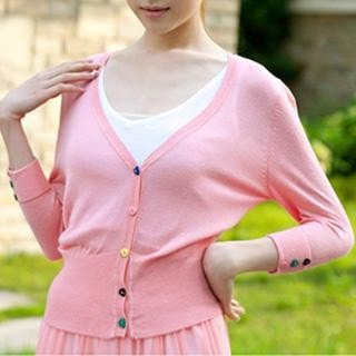 3/4 Sleeved Knit Cardigan-33192