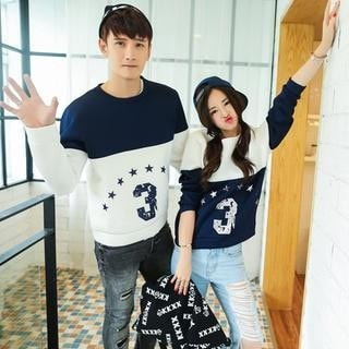 3 Print Couple Pullover