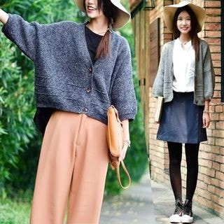 3/4-Sleeve Cardigan-37869