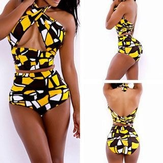 2-piece Printed Swimsuit