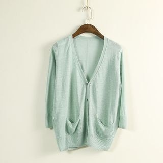 3/4-Sleeve Cardigan-80162