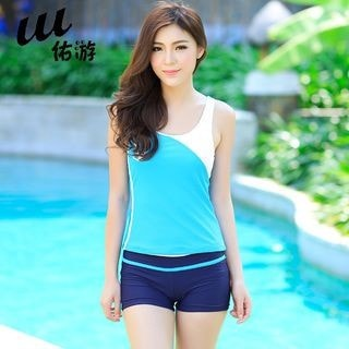 2-piece Colour Block Swimdress