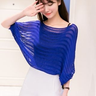 3/4-Sleeve Batwing Knit Top