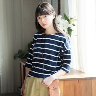 3/4-Sleeve Striped T-Shirt_5588
