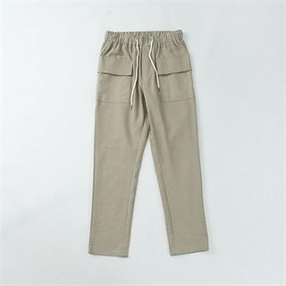 Band-Waist Cargo-Pocket Pants