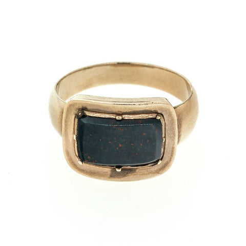 """10k Rose Gold Gregorian Blood Stone Mourning Ring"" - SprintShopping"