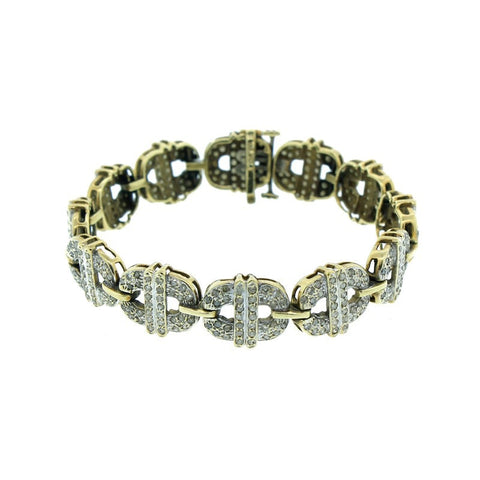"""10K Yellow Gold & Diamond Bracelet"" - SprintShopping"