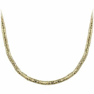 Gold Plate Rubber Necklace