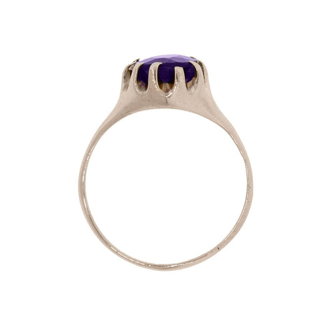 """10K Rose Gold Oval Shape Amethyst Ring"" - SprintShopping"