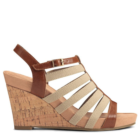 A2 by Aerosoles Women's Magic Plush Wedge Sandals (Dark Tan) - 8.0 M