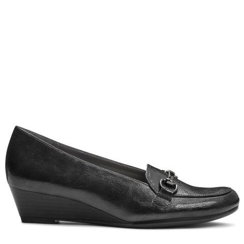 A2 by Aerosoles Women's Love Spell Medium/Wide Wedge Loafers (Black) - 7.5 W